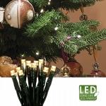 Гирлянда 2,85м теплобелая Грозди кабель зеленый 1,5м 20 диодов LED indoor