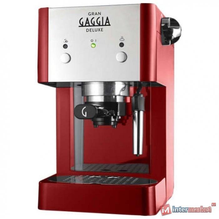 Кофеварка рожковая Gaggia Gran De Luxe red